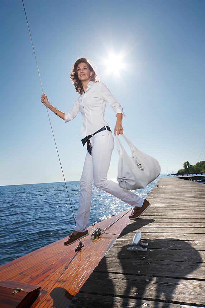 Modelfotografie auf einem Segelboot Kai Arndt München