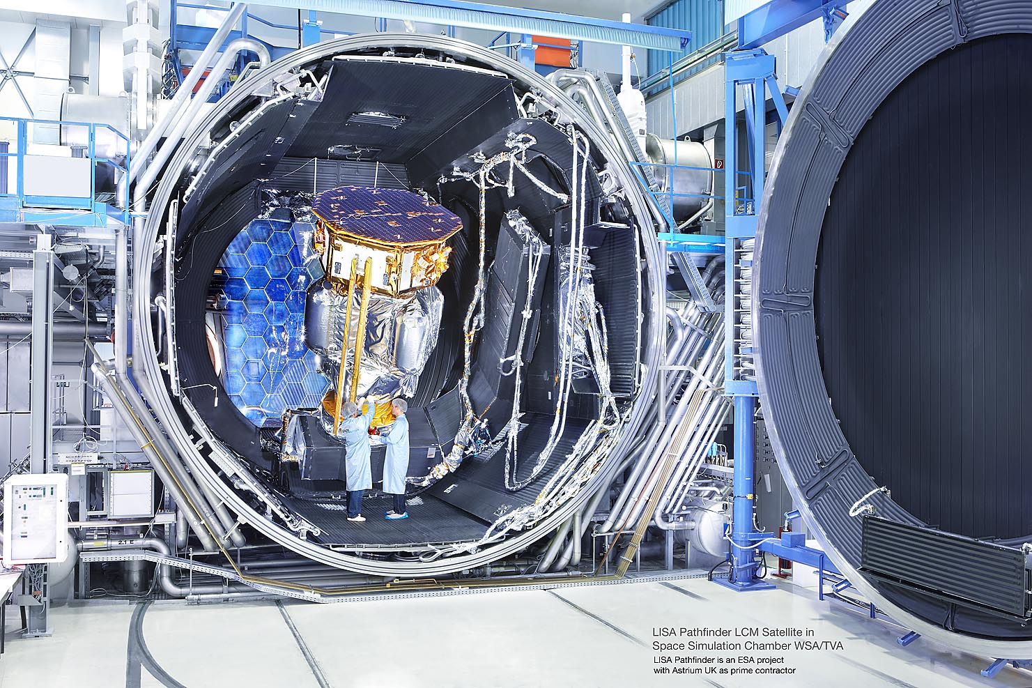 LISA Pathfinder LCM Satellite in Space Simulation Chamber WSA/TVA ASTRIUM
